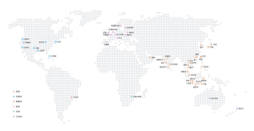 阿里云CDN节点分布(中国大陆+海外+港澳台)