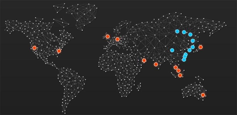 阿里云全球数据中心及网络节点基础设施部署分布